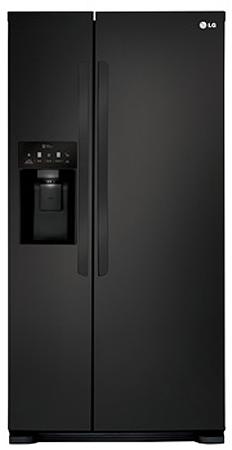 LG Black Side-By-Side Refrigerator