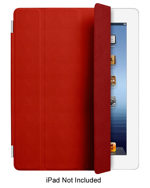 Apple Red Leather Smart Cover For iPad 2 And iPad 3 - MD304LLA