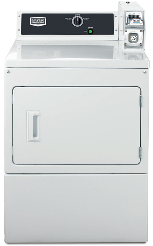 """Maytag 27"""" White Commercial Super-Capacity Electric Dryer"""