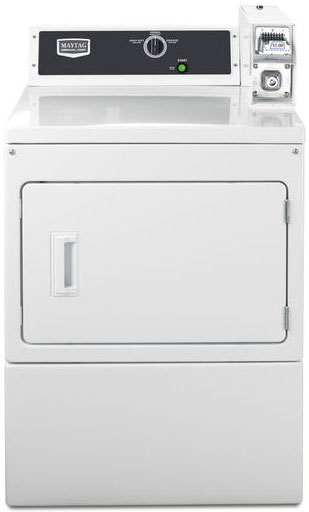 """Maytag 27"""" White Commercial Super-Capacity Gas Dryer"""