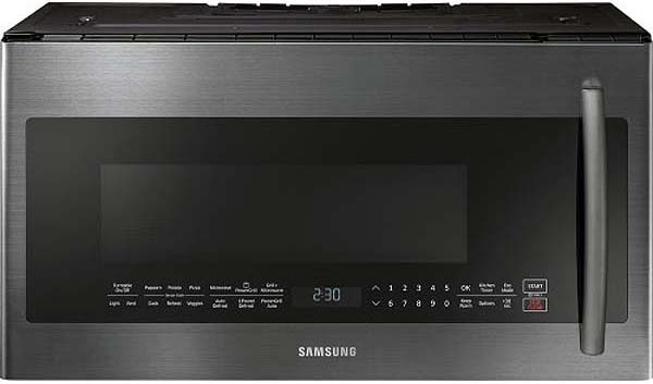 Samsung Fingerprint Resistant Black Stainless Microwave