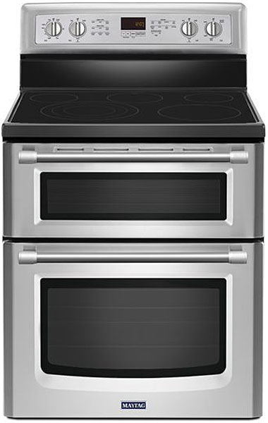 Maytag Gemini Stainless Steel Freestanding Electric Conve...