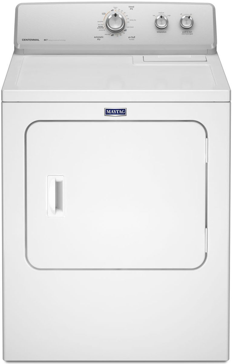 Maytag White Electric Dryer Medc215ew