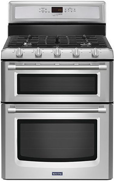 Maytag Gemini Stainless Steel Freestanding Gas Convection...