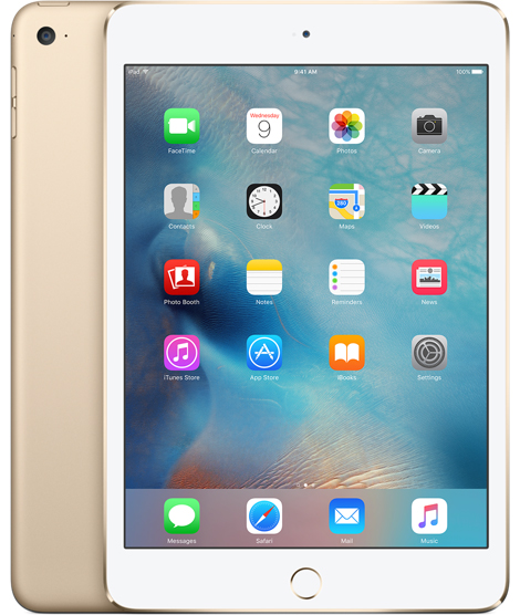 "iPad mini 4 64 GB Tablet - 7.9"" - Retina Display - Wireless LAN - 4G - Apple A8 Dual-core (2 Core) 1.50 GHz - Gold"