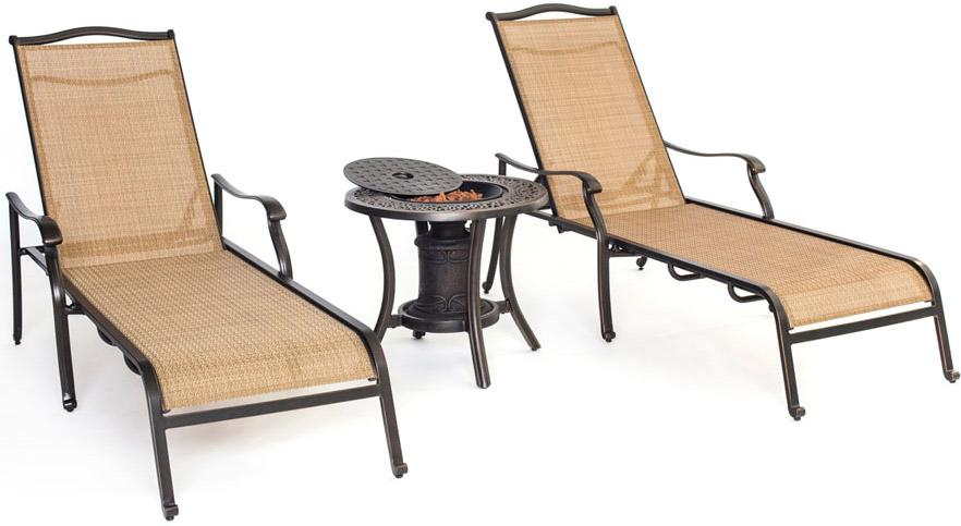 Hanover Natural Oat Monaco 3-Piece Outdoor Lounge Set