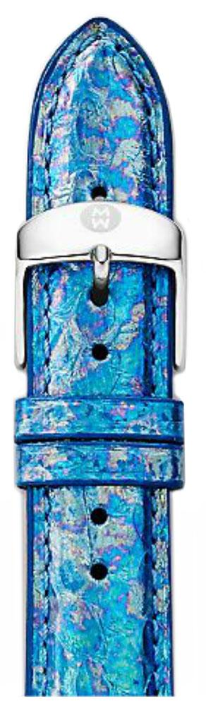 Michele Watches 16mm Mirage Blue Fashion Snake Watch Band