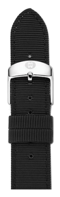 Michele Watches 16mm Black Grosgrain Watch Band