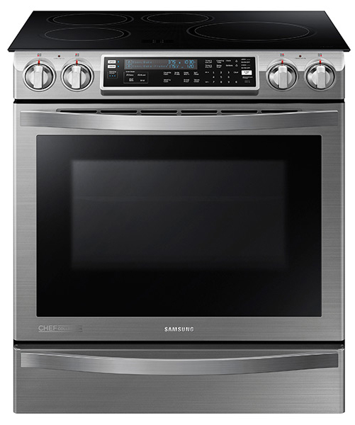 Samsung Slide-In Induction Chef Collection Stainless Stee...
