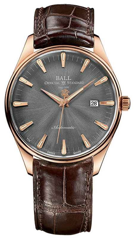 Ball Trainmaster One Hundred Twenty Grey Dial Mens Watch