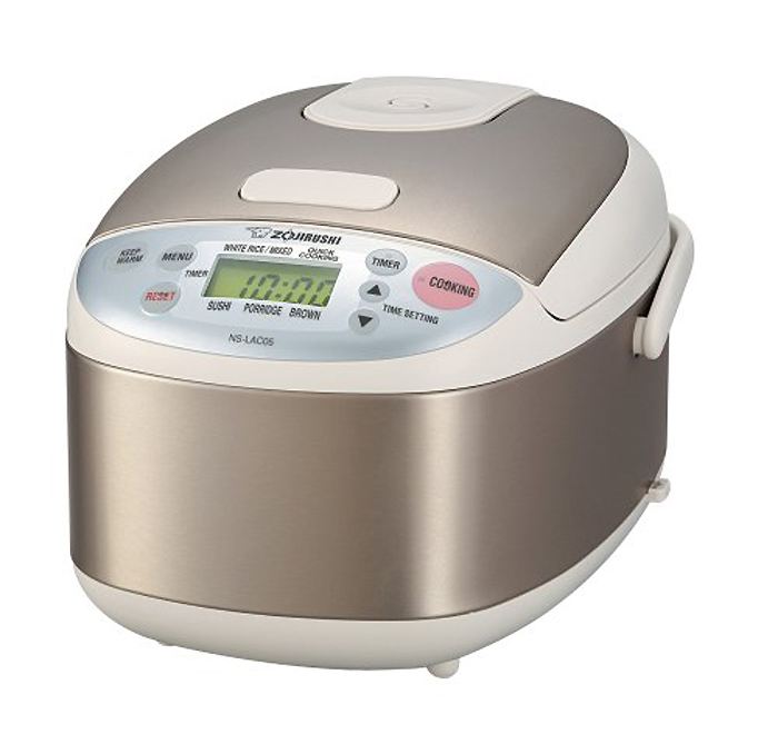 Zojirushi NS-LAC05 Micom Rice Cooker & Steamer - 450 W - 20.29 fl oz - Stainless Steel