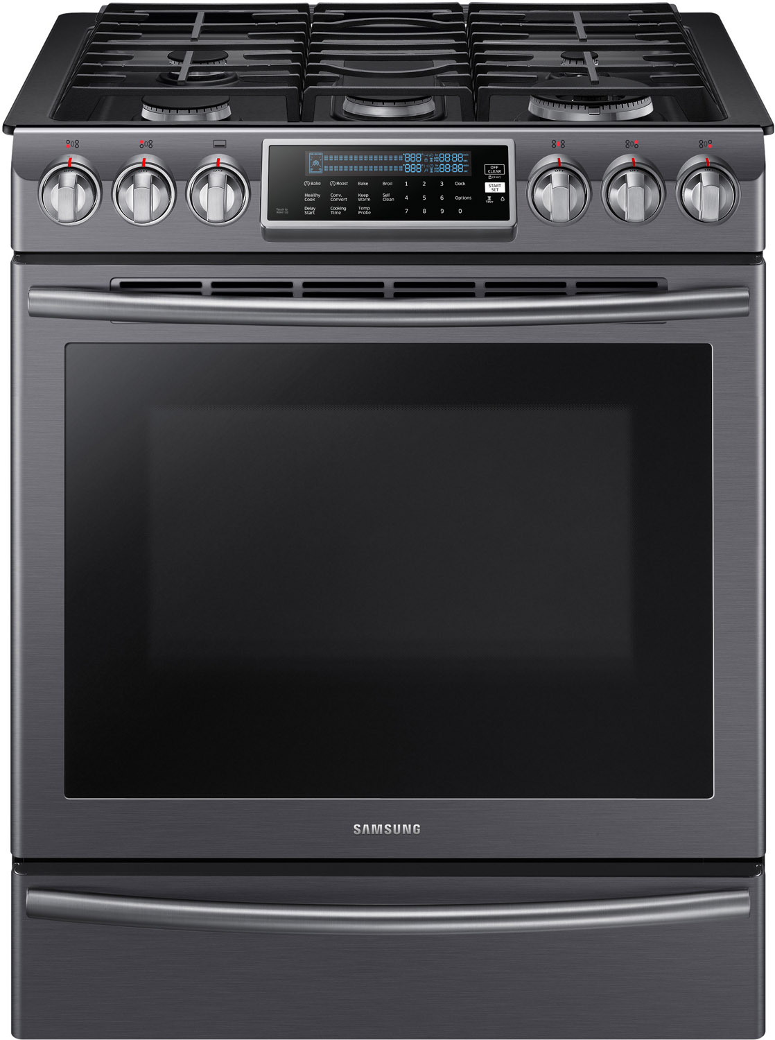 Samsung 30 Black Stainless Steel Slide In Convection Gas
