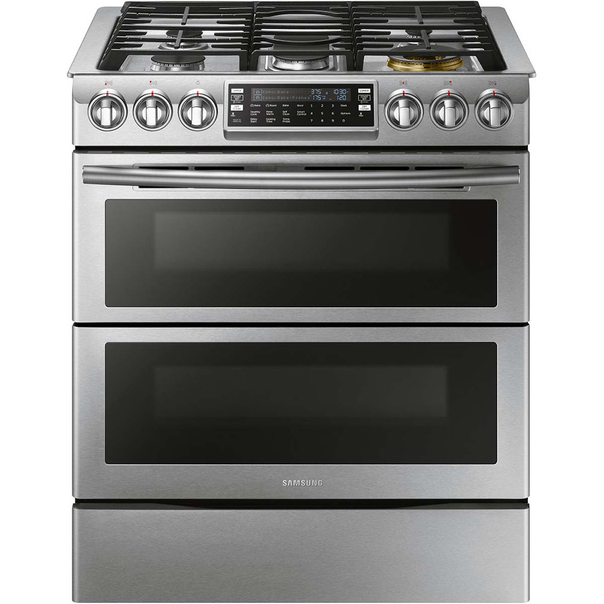 Samsung Stainless Steel Flex Duo Slide-In Gas Range