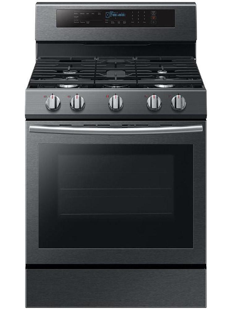 Samsung Fingerprint Resistant Black Stainless Gas Range
