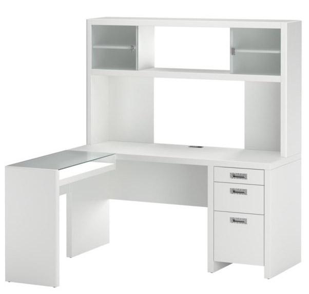 Bush Furniture Small Office L-Desk & Hutch
