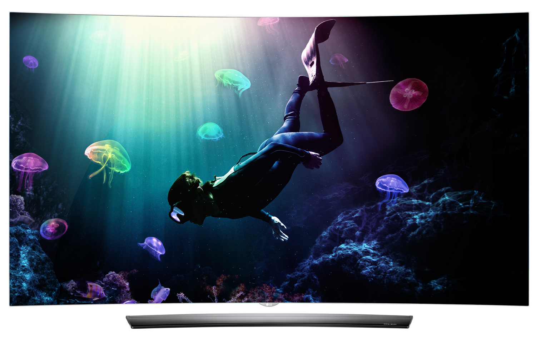 "LG 65"" Black UHD 4K Curved OLED 3D Smart HDTV With WebOS 3.0"