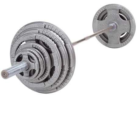 Body Solid 300 Lb Steel Grip Olympic Set