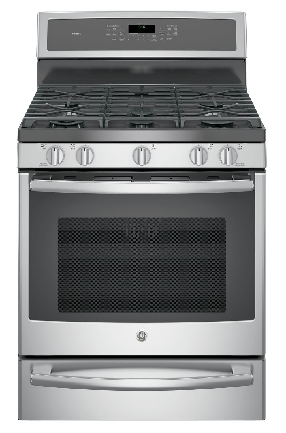 GE Profile 30 Stainless Steel Dual-Fuel Free-Standing Convection Range With Warming Drawer