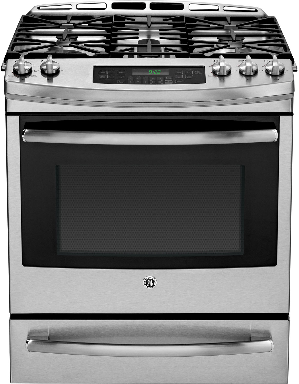 "GE Profile 30"" Stainless Steel Dual-Fuel Slide-In Range"