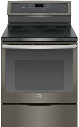 GE Profile 30 Freestanding Slate Electric Convection Range