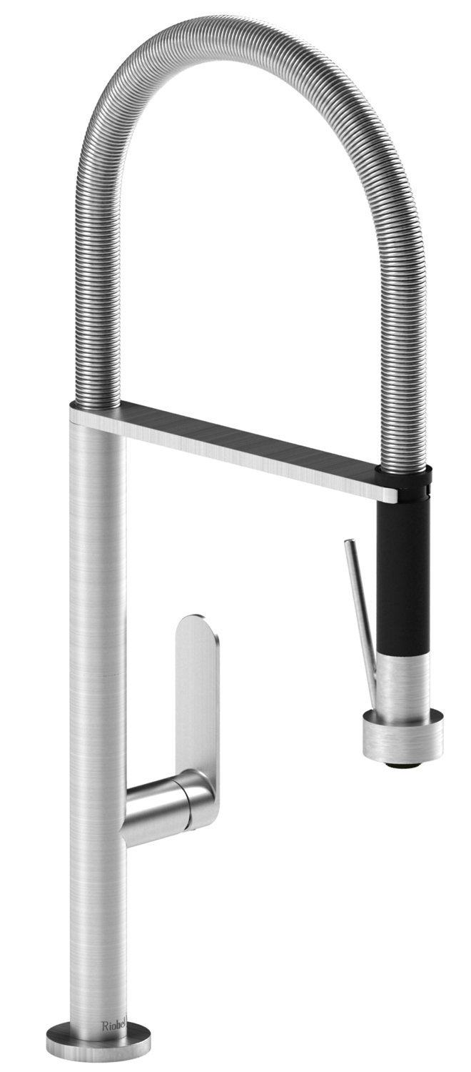 Riobel Stainless Steel Perla Kitchen Faucet With Spray