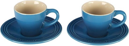Le Creuset Marseille Stoneware Espresso Cups And Saucers