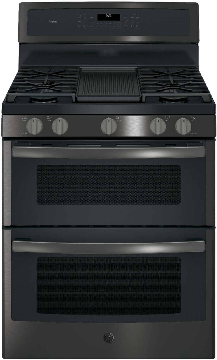 Ge Profile Black Stainless Double Oven Gas Pgb960bejts