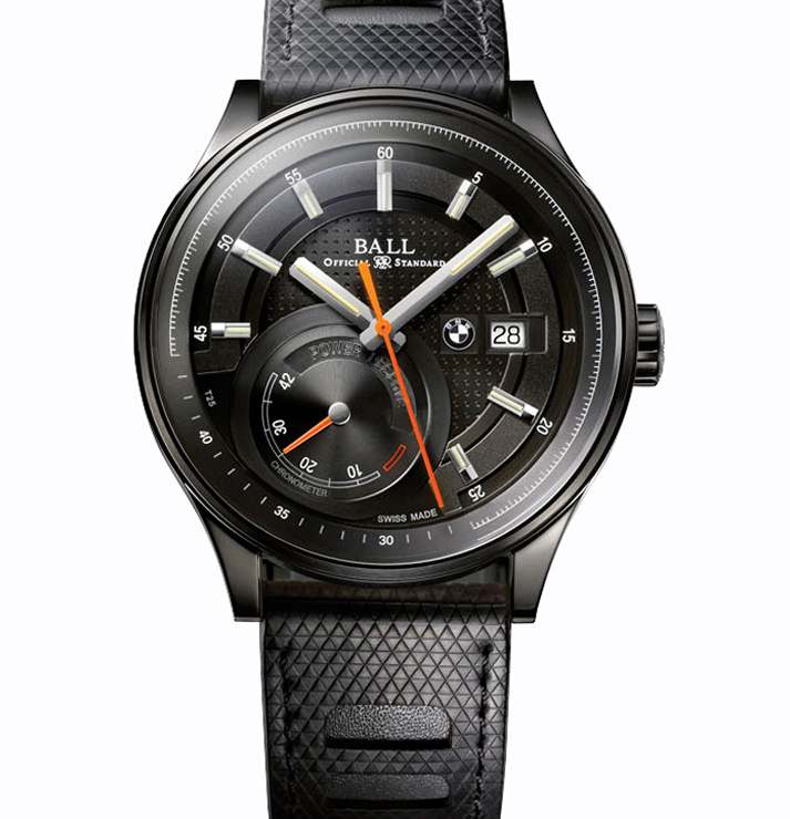 Ball For BMW Power Reserve Black Dial Mens Watch