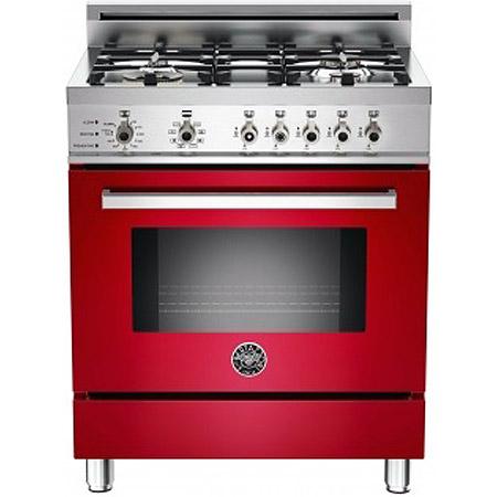 "Bertazzoni 30"" Professional Red Dual Fuel Range"