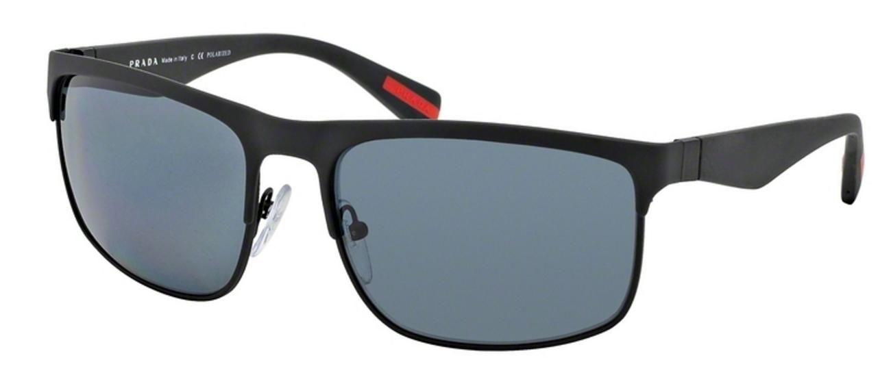 Prada Sunglasses Rubbermax PS56PS DG05Z1-60 - Black Rubber Frame Polar Grey Lenses Model: DG05Z1-60