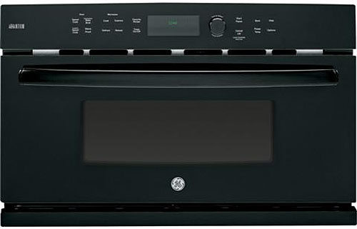 "GE Profile Advantium 27"" Black  Single Electric Wall Oven"