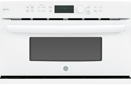 """GE 30"""" Profile Advantium White Wall Oven"""