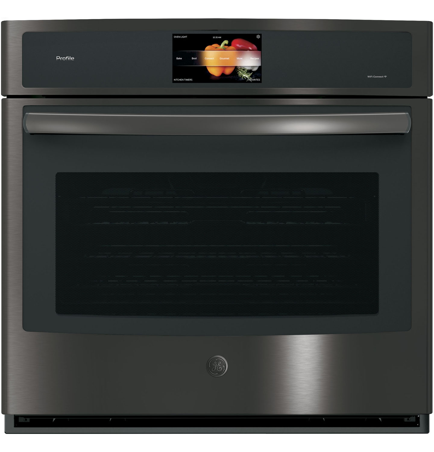 GE Profile 30 Black Stainless Built-In Single Convection Wall Oven