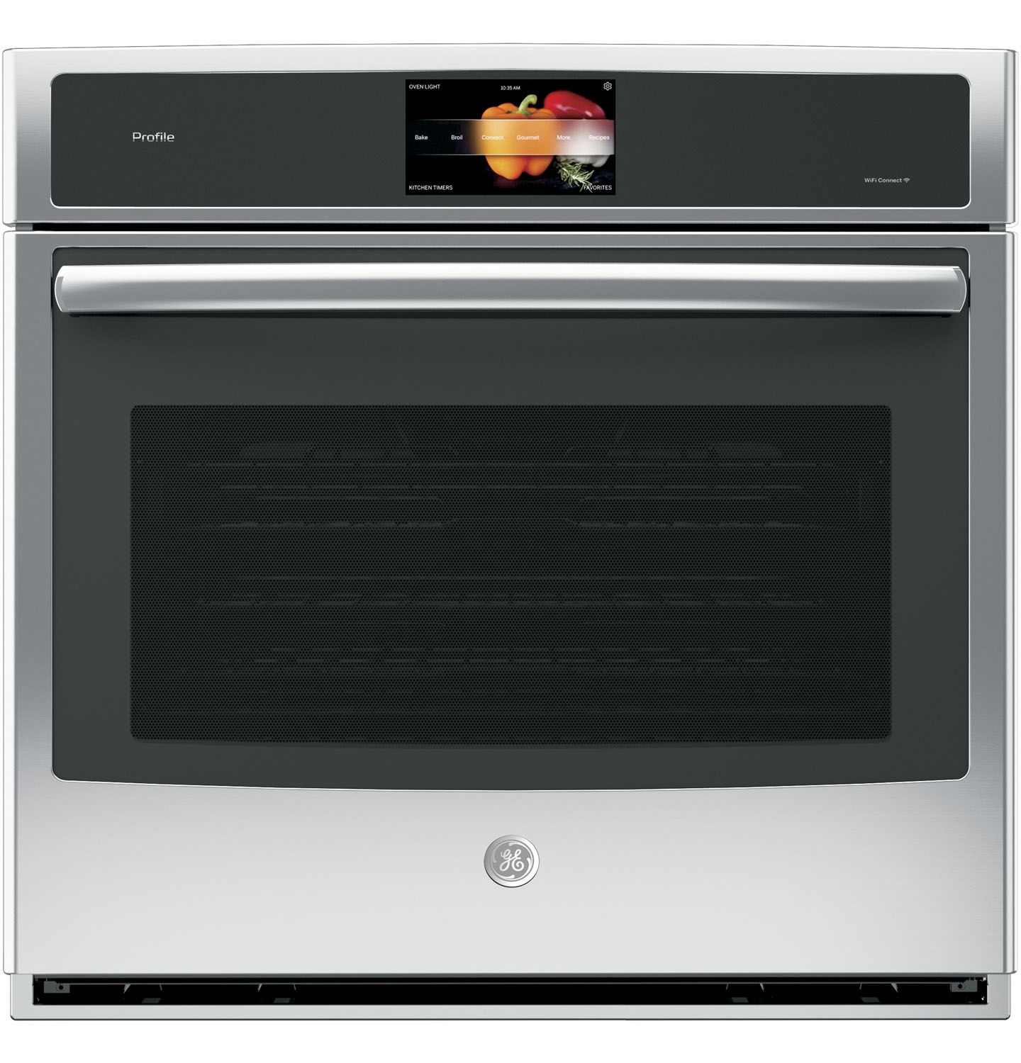 GE Profile 30 Stainless Steel Built-In Single Convection Wall Oven