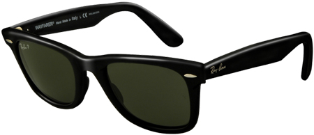 Ray-Ban Black Polarized Unisex Sunglasses