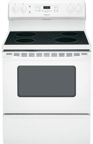 """GE Hotpoint 30"""" White Free-Standing Electric Range"""