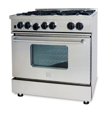 """BlueStar 36"""" RCS Series Pro-Style Free Standing Stainless..."""