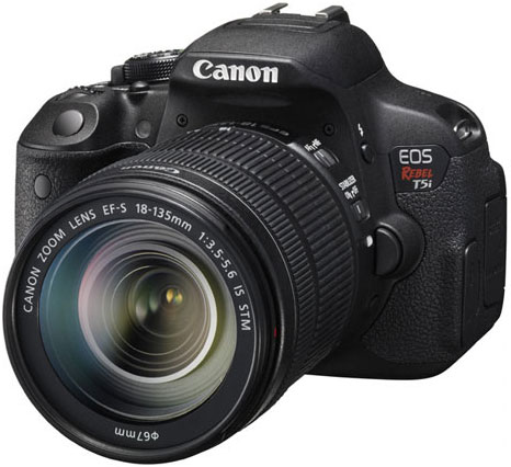 Canon EOS Rebel T5i Digital SLR Camera With 18-135mm IS S...