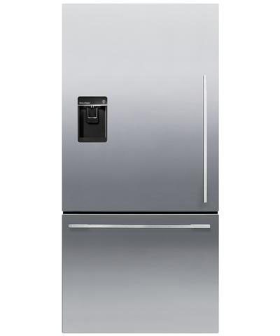 Fisher & Paykel RF170WDLUX5 17.0 Cu. Ft. Stainless Steel Counter Depth Bottom Freezer Refrigerator - Left Hinge