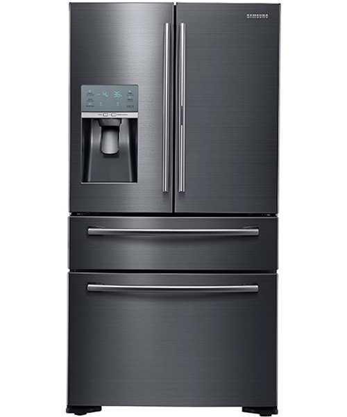 Go Home Black Industrial Kitchen Cart At Lowes Com: Samsung Black Stainless Refrigerator