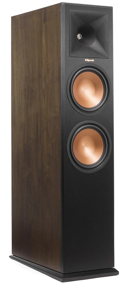 Klipsch Walnut Wood Veneer Dolby Atmos Enabled Floorstanding Speaker - RP-280FAWAL