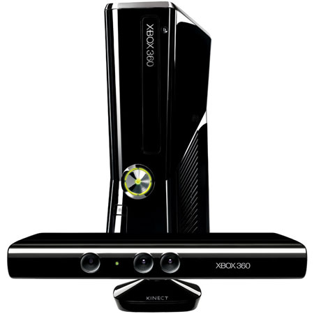 Microsoft Xbox 360 Slim 4GB With Kinect Video Game System - S4G00001
