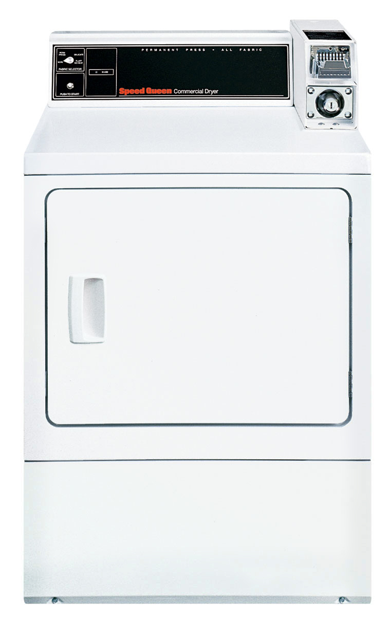 SPEED QUEEN White Commercial Single Load Gas Dryer