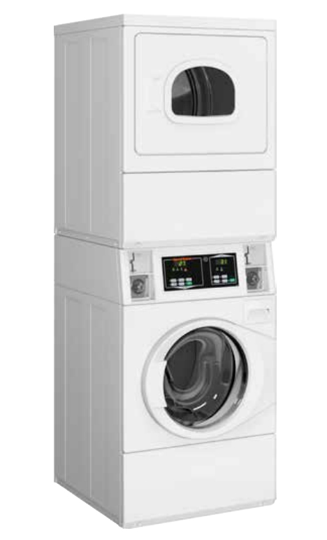 SPEED QUEEN White Commercial Stack Washer And Electric Dryer