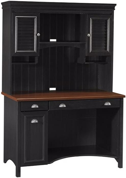 Bush Furniture Black Computer Desk With Hutch Stf002