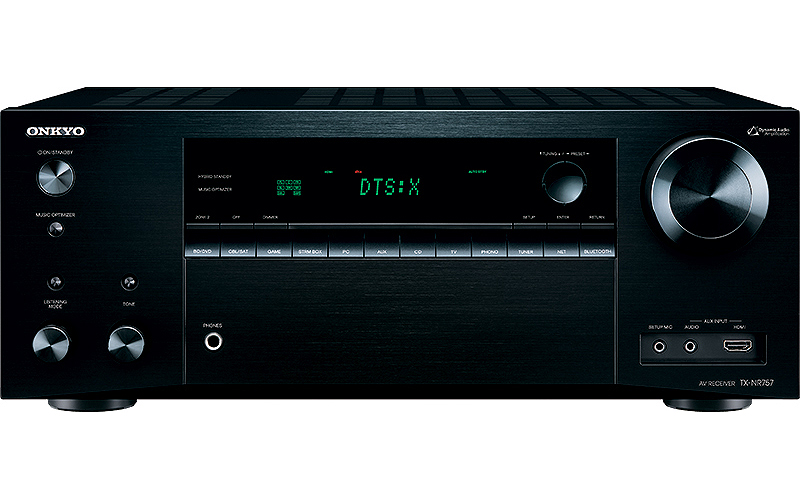 Onkyo TX-NR757 Dolby Atmos home theater receiver