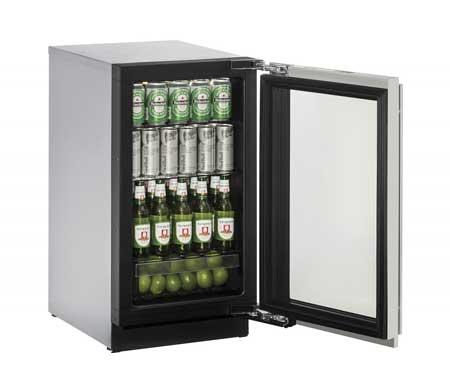 """U-Line 18"""" Integrated Frame Glass Door Beverage Center"""