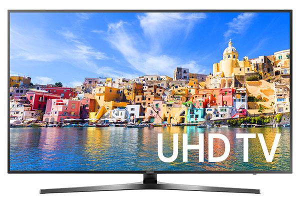 """Samsung 40"""" Black LED UHD 4K Smart HDTV"""