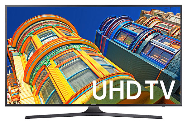 Samsung 55-Inch 4K Ultra HD Smart LED TV w/ WiFi, 2016 Model - UN55KU6300