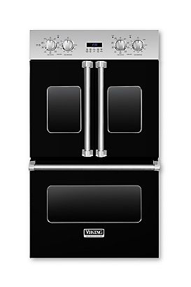 """Viking 30"""" Black Electric French-Door Double Oven"""